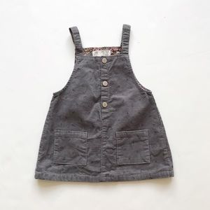 ZARA gray corduroy dress jumper EUC 18-24 months